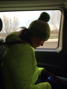 Så trött att jag somnade rakt uppochner i bilen på vägen hem.